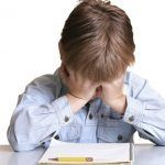 Frustrated with school or child with learning difficulties.